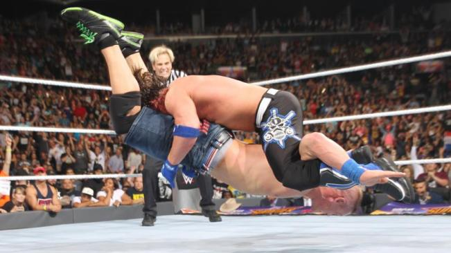 AJ Styles beat John Cena with a Styles Clash and a Phenomonal Forearm image: wwe.com