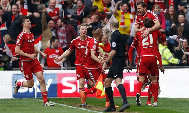 Middlesbrough return to the top-flgiht after an eight year absence image: theguardian.com