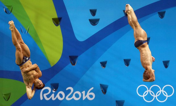 Chris Mears was given 5% chance of survival in 2009 and now he is Olympic champion beside Laugher image: theguardian.com