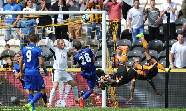 Hull stunned champions Leicester to start their cmapaign with an unlikely win image: dailymail.co.uk