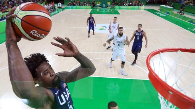 USA's men's basketball team won Olympic gold for the 15th time image: bbc.co.uk