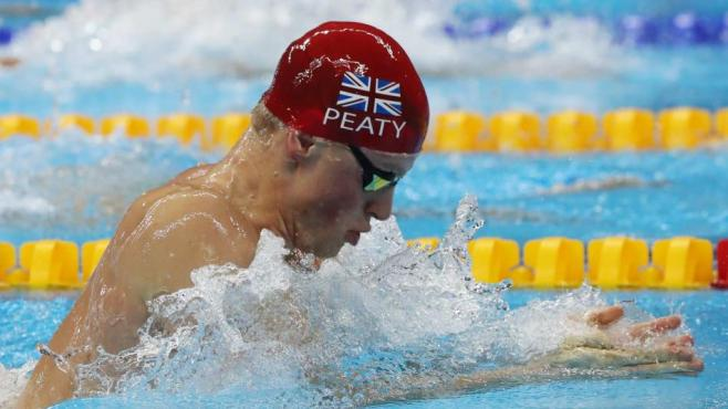 Adam Peaty looks to beocme the first British male to win a gold medal in the pool since 1988 image: nbcolympics.com