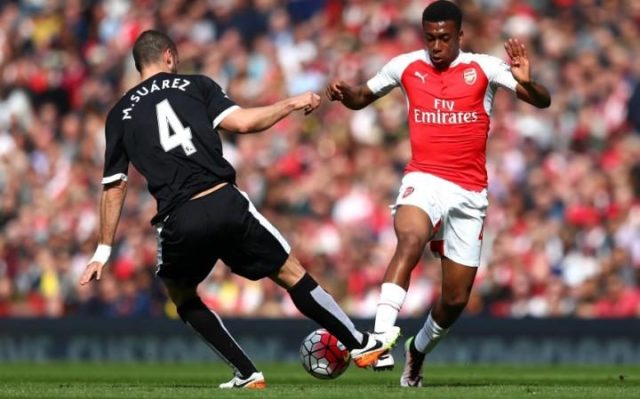Alex Iwobi made 13 first team appearances for the Gunners last season image: telegraph.co.uk