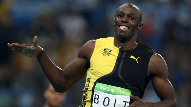 Usain Bolt won a third successive 100m Olympic gold image: twitter.com
