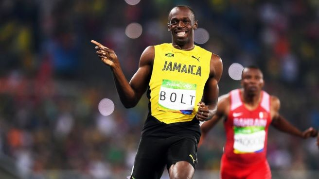 Usain Bolt's win the 200m makes him a eight time Olympic gold medallist image: abcnews.go.com