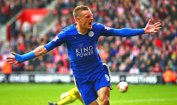 Jamie Vardy scored 24 goals last season for the Foxes image: express.co.uk