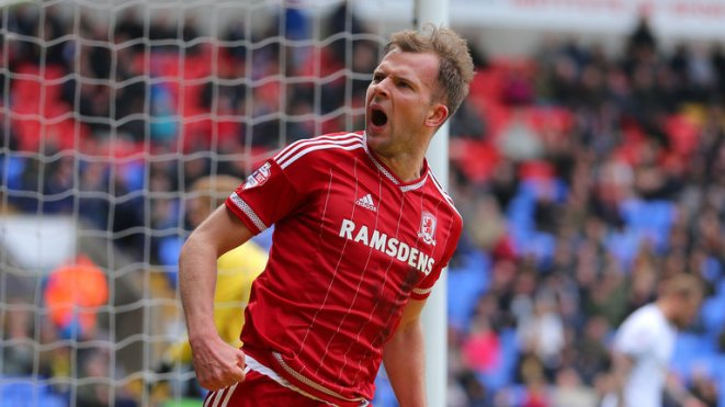 Jordan Rhodes moved to Middlesbrough for £9m in Januray image: skysports.com
