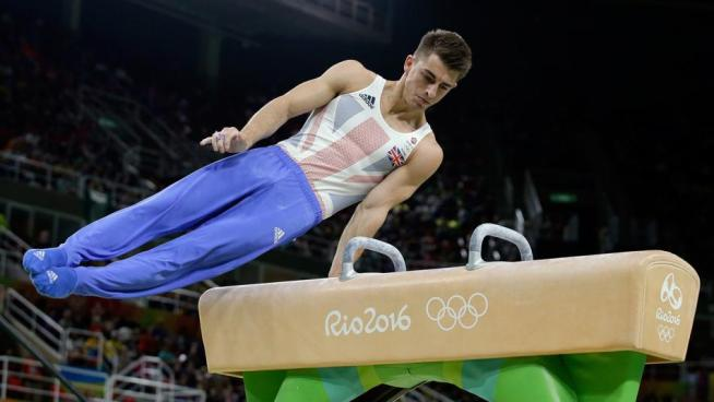 Max Whitlock won gold on the floor and pommelhorse image: nbcolympics.com