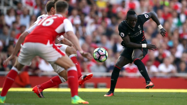 Ex-Southampton man Saido Mane was on the scoresheet in Liverpool's 4-3 win over Arsenal image; youtube.com