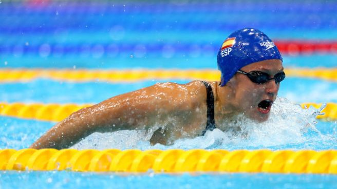 Mireia Bemonte became Spain's first ever Olympic swimming champion image: omarjjoo.blogspot.com
