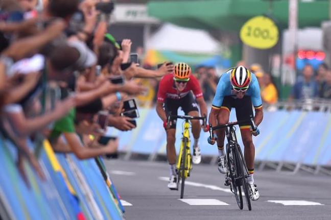 Greg van Avermaet won Belgium's first gold of the Rio Olympics image: cycling news.com