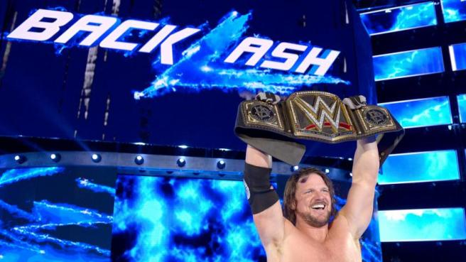AJ Styles added the WWE Championship t his long list of accomplishments image: wwe.com