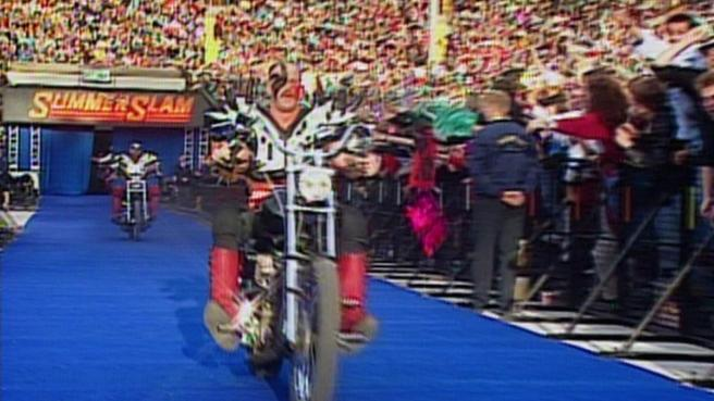 Legion of Doom came to the ring on motorbikes image: wwe.com