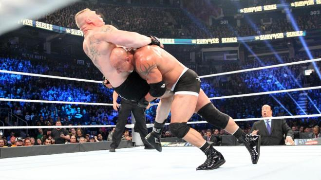 Two spears and a jackhammer saw Goldberg beat Brock Lesnar in just 85 seconds image: wwe.com
