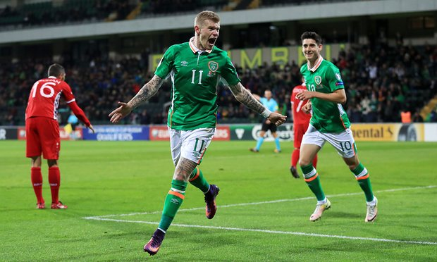 James McClean bagged a barce in Ireland's win in Moldova image: theguardian.com