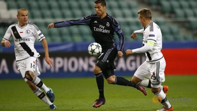 Cristiano Ronaldo will be searching for more goals agsinst former club Sprting Lisbon image: channelnewsasia.com