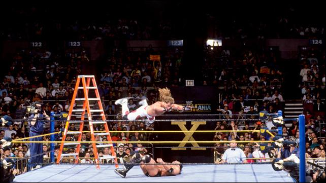Shawn Michaels and Rzor Ramon stole the show in WrestleMania;'s first ever Ladder match image:gmbsports.com