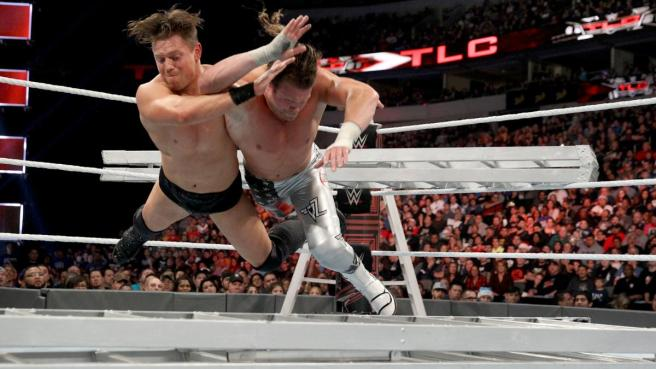 The Miz's skull crushing finale sends Dolph Ziggler face first into the ladder image: wwe.com