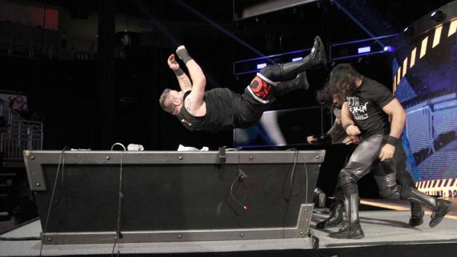 The Shield take out Kevin Owens after a controversial end to the main event image: wwe.com