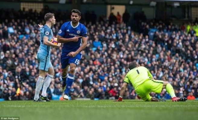 Diego Costa scored his 11th goal of the season as Chelsea beat Man City image: sportskeeda.com
