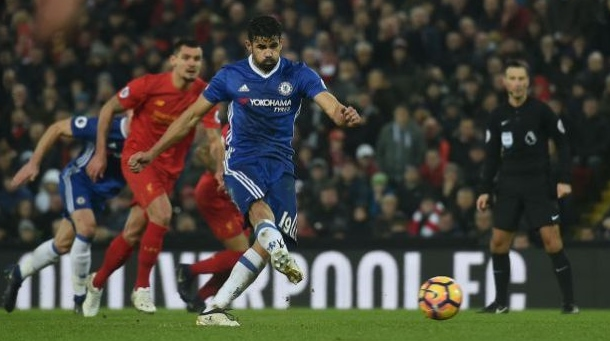 Diego Costa missed the chance to send Chelsea 11 points clear image: geoponetsports.com