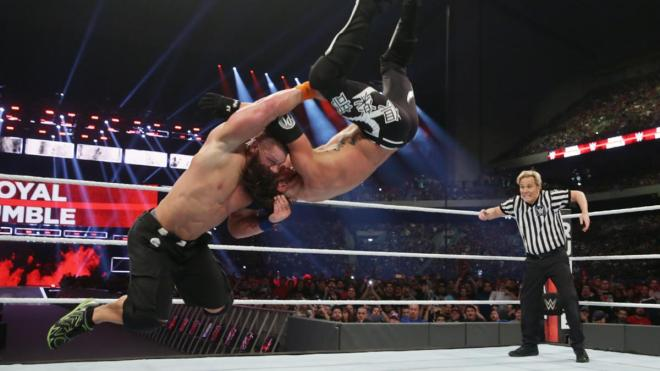 John Cena beat AJ Styles to tie Ric Flair's record of 16 world titles image: wwe.com