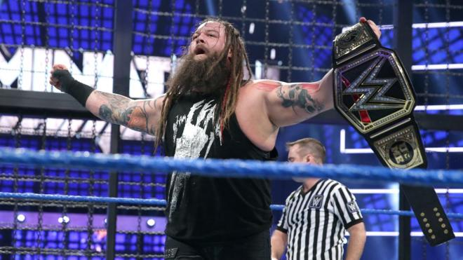 Bray Wyatt pinned John Cena and AJ Styles on his way to winning the gold image: wwe.com
