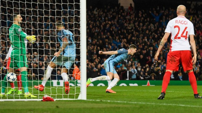 John Stones was on traget in Man City's thrilling win over Monaco image: skysports.com