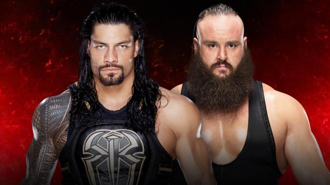 Roman Reigns looks to end the dominant run of Braun Strowman image: wwe.com