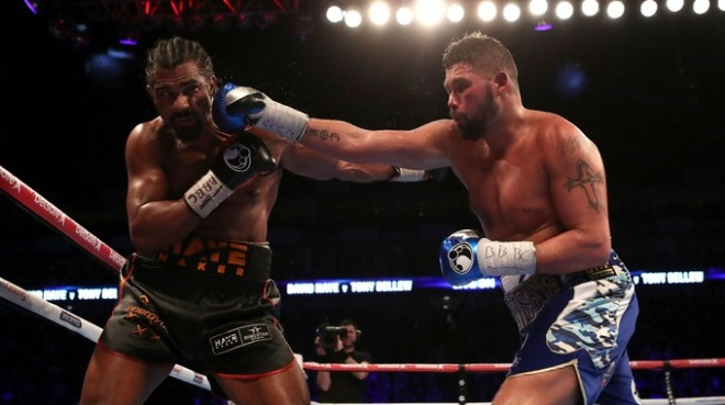Tony Bellew stunned David Haye with an 11th round stoppage image: itv.com